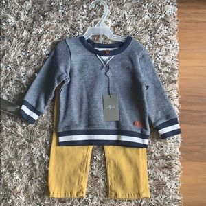 7 for all mankind two piece baby boy set